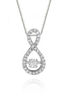 Move My Heart Diamond Infinity Pendant in 10k White Gold