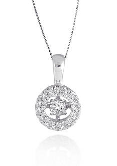 Move My Heart Moving Diamond Pendant set in 10k White Gold
