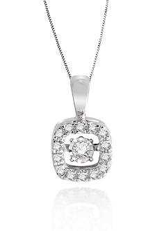 Move My Heart Moving Diamond Pendant set in 10k White Gold
