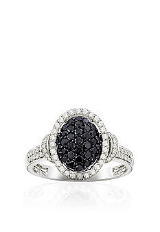 Belk & Co. Black and White Diamond  Ring