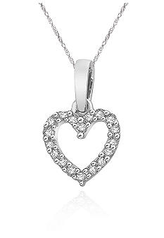 Belk & Co. Diamond Mini Heart Pendant in 10k White Gold