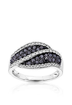 Belk & Co. Black and White Diamond Ring in 14k Gold