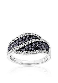 Belk & Co. Black and White Diamond Ring in 14k Gold