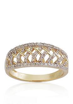 Belk & Co. Diamond Weave Ring in 10k Yellow Gold