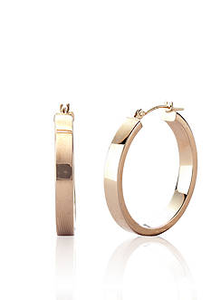 Belk & Co. 14k Square Edge Polished Hoop Earrings