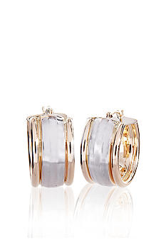 Belk & Co. Two-Tone Hoop Earrings