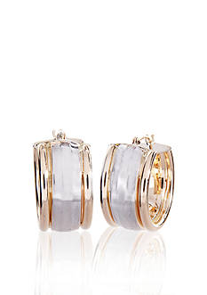Belk & Co. Two-Tone Hoop Earrings
