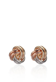 Belk & Co. 14k Tri-Color Love Knot Earrings