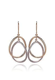 Belk & Co. Two Tone Double Oval Dangle Earrings