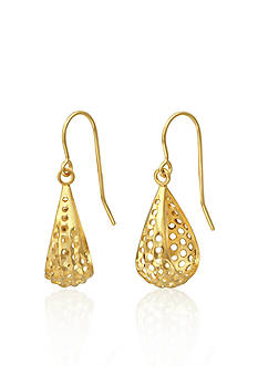 Belk & Co. 14k Yellow Gold Diamond Cut Teardrop Earrings
