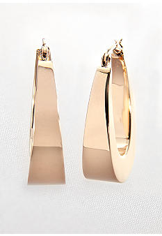 Belk & Co. 14k Tapered Hoop Earrings