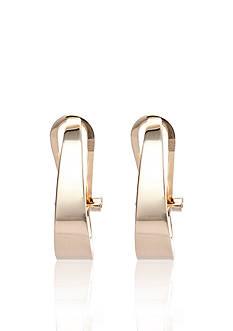 Belk & Co. 14k J Clip Hoop Earrings