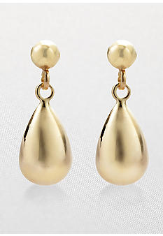 Belk & Co. 14k Puff Teardrop Earrings