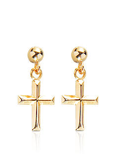 Belk & Co. 14k Yellow Gold Cross Dangle Earrings