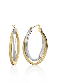 Belk & Co. 14k Double Oval Hoop Earrings