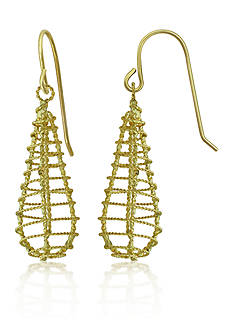 Belk & Co. 14K Yellow-Gold Teardrop Dangle Earrings