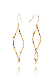 Belk & Co. 14k Gold Twisted Open Marquise Dangle Earrings