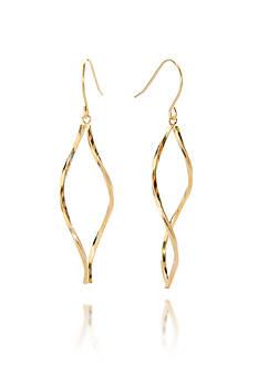 Belk & Co. 14k Gold Twisted Open Marquise Dangle Earrings