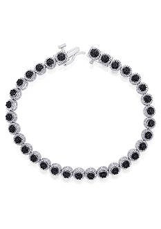 Belk & Co. Black Diamond Tennis Bracelet in Sterling Silver