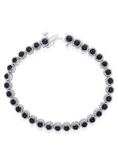 Belk & Co. Black Diamond Tennis Bracelet in Sterling Silver