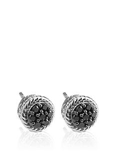 Belk & Co. Sterling Silver Black Diamond Stud Earrings