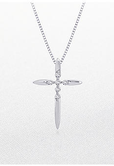 Belk & Co. Diamond Cross Pendant in 10k White Gold