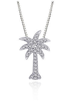 Belk & Co. Diamond Palm Tree Pendant in 10K White Gold