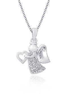 Belk & Co. Diamond Angel Pendant in Sterling Silver