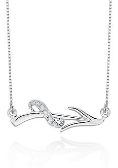 Belk & Co. Diamond Sagittarius Pendant in Sterling Silver