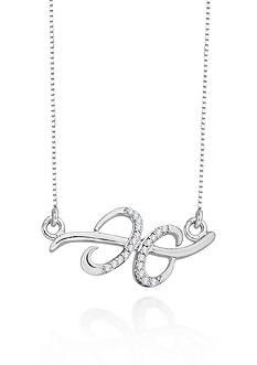Belk & Co. Diamond Gemini Pendant in Sterling Silver