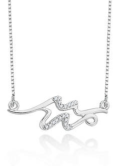 Belk & Co. Diamond Aquarius Pendant in Sterling Silver