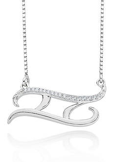 Belk & Co. Diamond Pisces Pendant in Sterling Silver