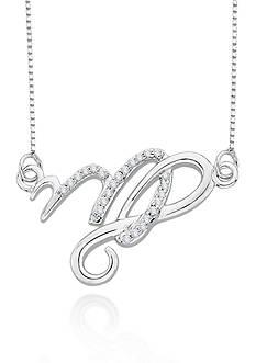 Belk & Co. Diamond Virgo Pendant in Sterling Silver