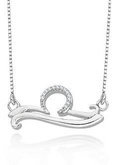 Belk & Co. Diamond Libra Pendant in Sterling Silver