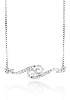 Belk & Co. Diamond Cancer Pendant in Sterling Silver