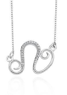 Belk & Co. Diamond Leo pendant in Sterling Silver