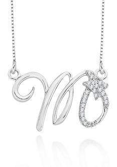 Belk & Co. Diamond Scorpio Pendant in Sterling Silver