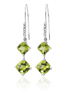 Belk & Co. Sterling Silver Peridot & Diamond Earring