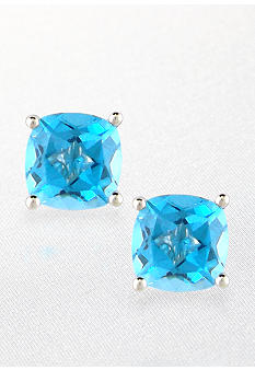 Belk & Co. Sterling Silver Blue Topaz Studs