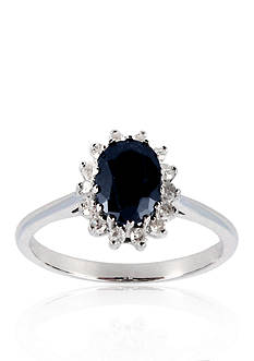 Belk & Co. Sapphire and Diamond Ring in Sterling Silver