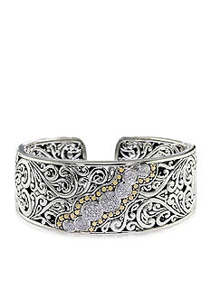 Effy Diamond Bangle in Sterling Silver with 18k Yellow Gold