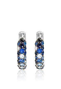 Effy Sterling Silver Sapphire Earrings