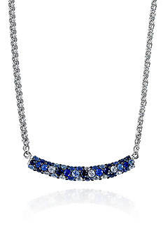 Effy Sterling Silver Multicolor Sapphire Necklace