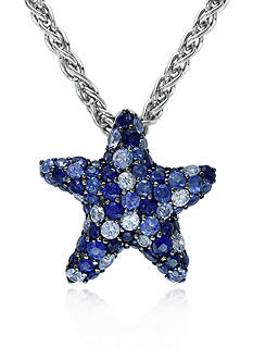 Effy Sterling Silver Sapphire Star Pendant