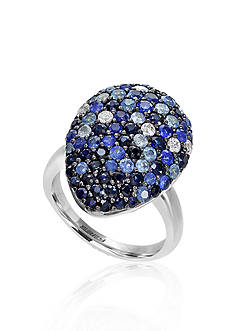 Effy Sterling Silver Sapphire Tear Drop Ring