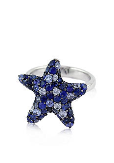 Effy Sterling Silver Blue Sapphire Star Ring