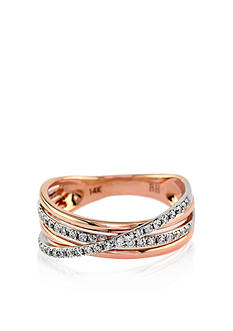 Effy Diamond Woven Band in 14k Rose Gold