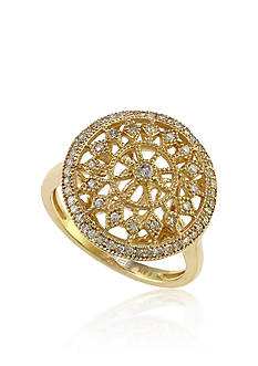 Effy Diamond Filigree Ring in 14k Yellow Gold