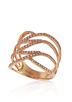 Effy Open Diamond Band in 14k Rose Gold