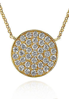 Effy Diamond Disc Pendant in 14k Yellow Gold